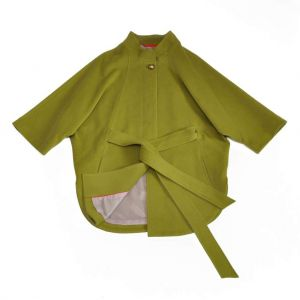 "Cape cut coat ""Olive green"""