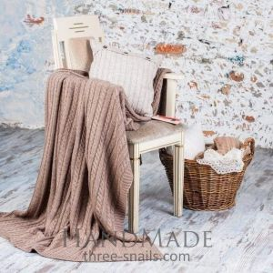 Cappuccino soft knit blanket