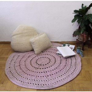 "Carpet rug ""Pink tenderness"""