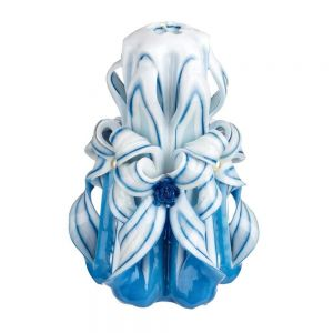 "Carved candle ""Blue Light"""