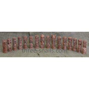 "Ceramic amulets statuettes set ""16 Slavic Gods"""