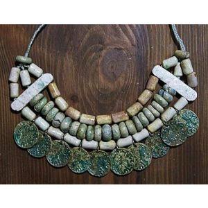 """Ceramic clay necklace """"Ceramic coins"""""""