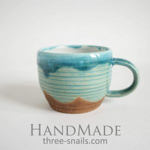 "Ceramic coffee cup ""Blue heavens"""