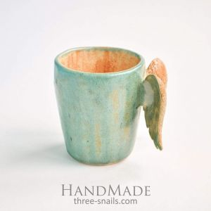 "Ceramic coffee cup ""Orange love"""