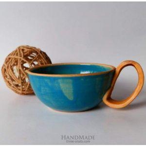 "Ceramic coffee cups ""Blue sky"""