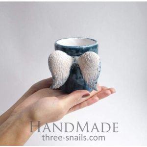 "Ceramic cup ""Blue angel"""