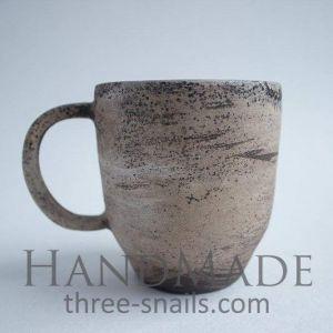 "Ceramic cup design ""Snowy morning"""