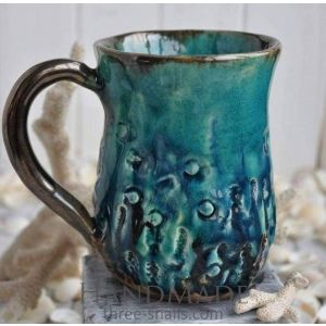 "Ceramic cups ""Sea bottom"""