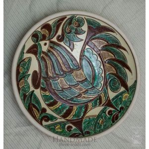 "Ceramic decorative plate ""Cockerel"""