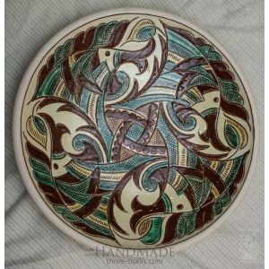"Ceramic decorative plate ""Crests"""