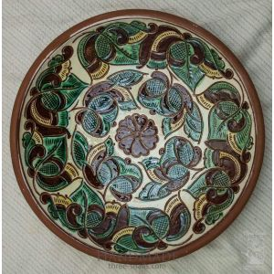 "Ceramic decorative plate ""Fern flower"""