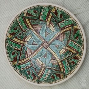 "Ceramic decorative plate ""Kolovrat"""