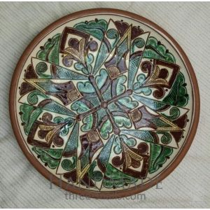 "Ceramic decorative plate ""Magic forest"""