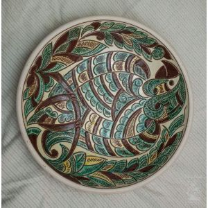 "Ceramic decorative plate ""Parrot"""