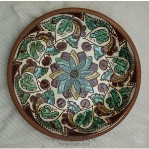 "Ceramic decorative plate ""Periwinkle"""