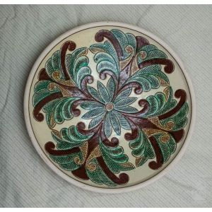 "Ceramic decorative plate ""Primrose"""