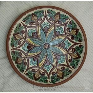 "Ceramic decorative plate ""Snowdrop"""