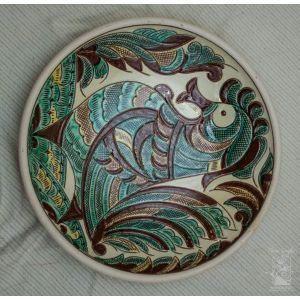 "Ceramic decorative plate ""The Humpbacked Horse"""