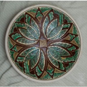 "Ceramic decorative plate ""Wild flower"""