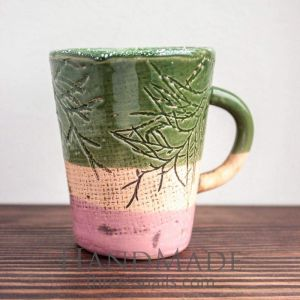 "Ceramic handmade cup ""Green Forest"""