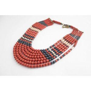 """Ceramic handmade necklace """"Blue Wave"""""""