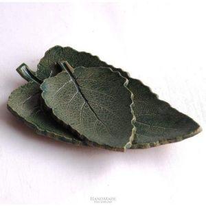 Ceramic leaf plates
