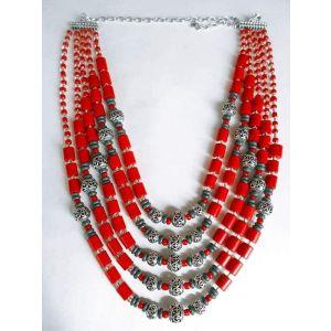 """Ceramic necklace """"Elegance"""""""