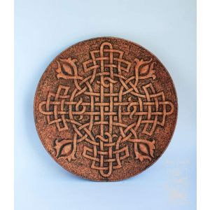 "Ceramic plate ""Celtic knot"""