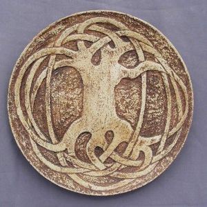 "Ceramic plate ""Celtic Tree of Life"""