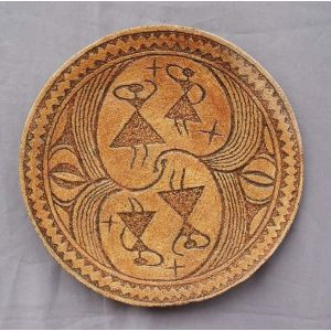 "Ceramic plate ""Dance of Goddesses"""
