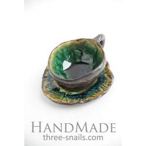 "Ceramic small cup 'Blue Dreams"""