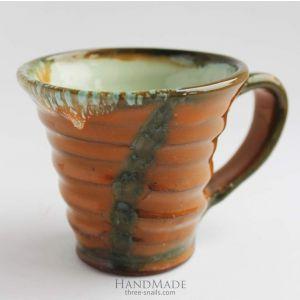 "Ceramic tea cup ""Red send"""