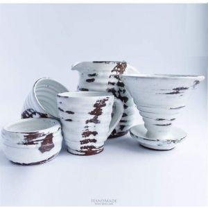 """Ceramic tea set """"White shine"""""""
