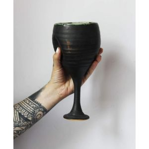 "Ceramic wine glass ""Matte shine"""