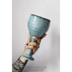 "Ceramic wine glass ""The horizonless sky"""