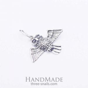 "Charm silver pendant ""Little owl"""