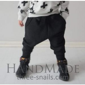 "Childrens pants ""Stylish black"""