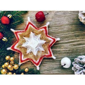 "Christmas decoration ""Mandala-star"""