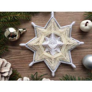 "Christmas decoration ""White star"""