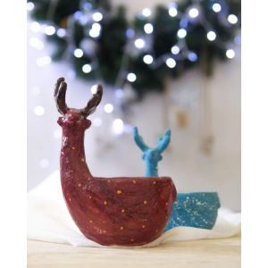 Christmas deer bowl