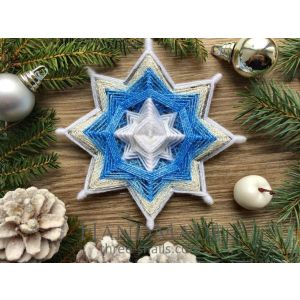 """Christmas star for a tree """"Icy star"""""""