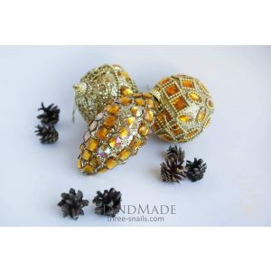 "Christmas tree toys set ""Amber Halo"""