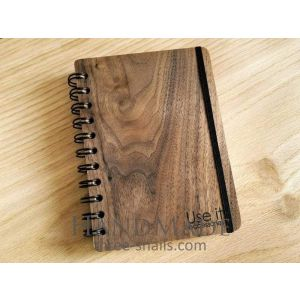 Classic wooden notebook