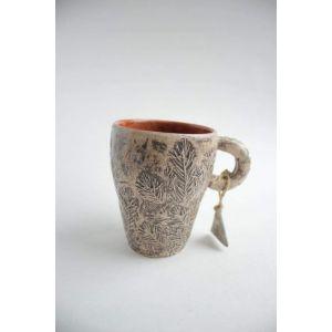 "Clay modeling tea cup ""Bronze sun"""