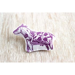 "Cloth brooch ""Cow"""