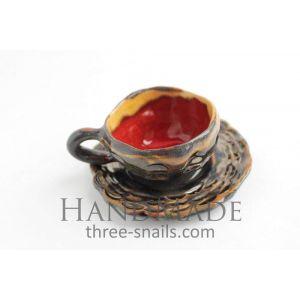 "Coffee ceramic cup ""Sunset"""