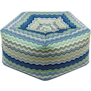 Colorful pentagonal pouf