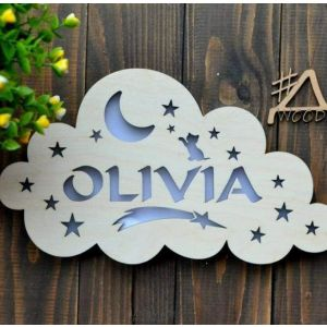 "Cool night lights ""Cloud with name"""
