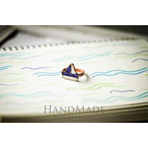 "Cooper ring ""Ship"" Blue"
