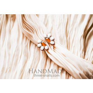 "Copper ring ""Daisy"""